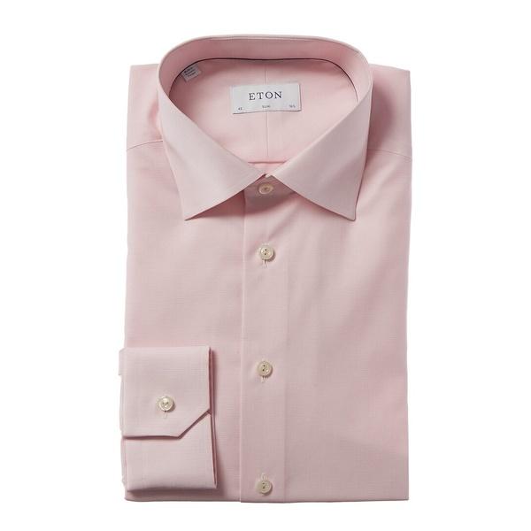 エトン 訳ありセール 格安 メンズ トップス シャツ pink 全商品無料サイズ交換 Shirt Dress Eton 人気上昇中 Fit Slim