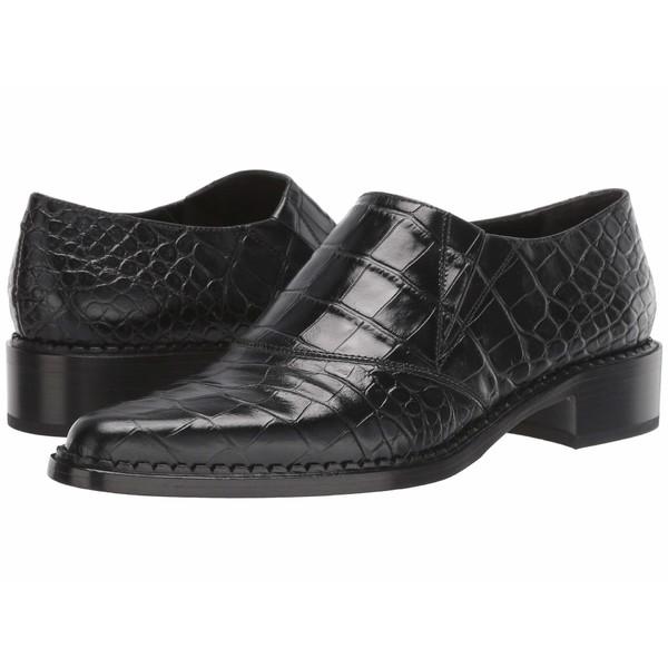 ヴィンス レディース スリッポン・ローファー シューズ Delmar Black Croc Print Leather