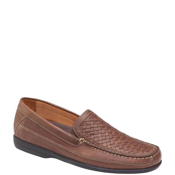 ジョンストンアンドマーフィー メンズ ドレスシューズ シューズ Men's Locklin Woven Venetian Leather Loafers Tan