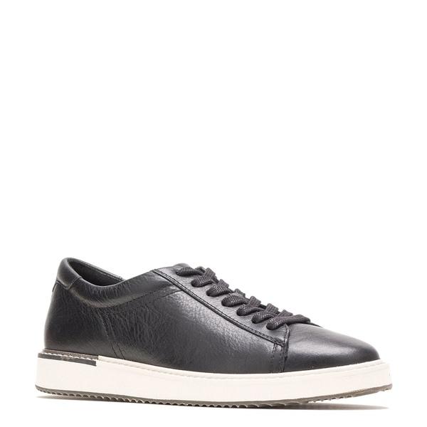 ハッシュパピー レディース スニーカー シューズ Sabine Leather Lace-Up Sneakers Black Leather