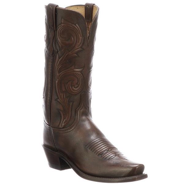 ルチーズ レディース ブーツ&レインブーツ シューズ Nicole Square Toe Leather Tall Western Boots Antique Castagno