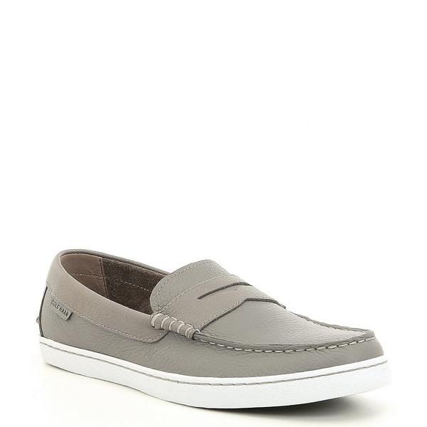 コールハーン メンズ スニーカー シューズ Men's Pinch Leather Weekender Loafer Grey Leather