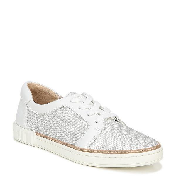 ナチュライザー レディース スニーカー シューズ Jane Mesh and Leather Lace Up Sneakers White