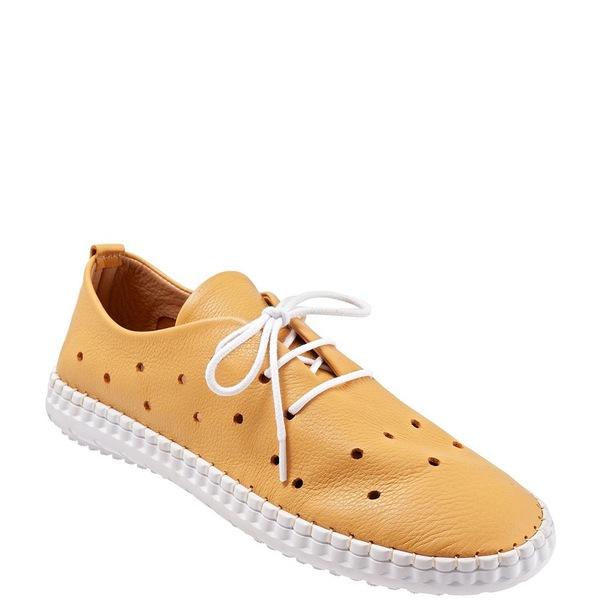 ブエノ レディース スニーカー シューズ Dallas Perforated Leather Sneakers Mustard