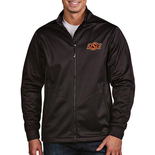 アンティグア メンズ ジャケット&ブルゾン アウター NCAA Golf Full-Zip Jacket Oklahoma State Cowboys Black