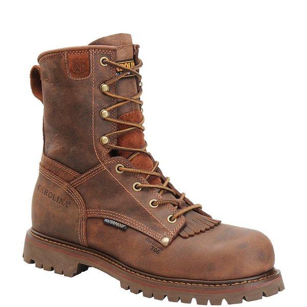カロリーナ メンズ ブーツ&レインブーツ シューズ Men's 28 Series Waterproof Composite Toe Work Boots Kharthoum Cigar