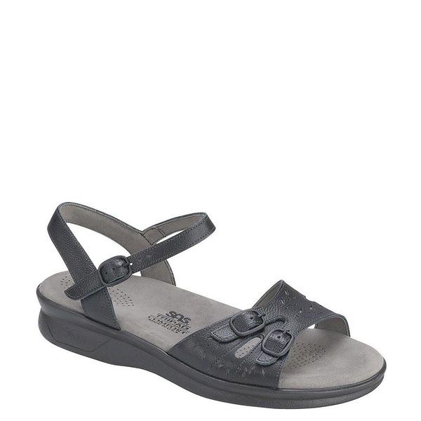 エスエーエス レディース サンダル シューズ Duo Leather Wedge Sandals Black