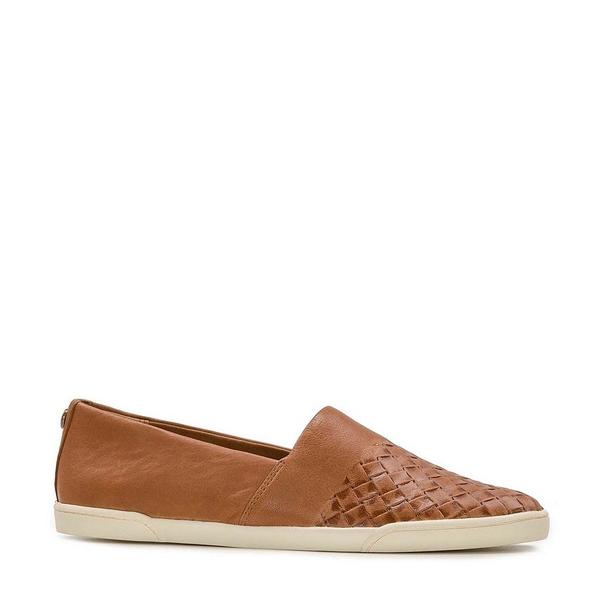パトリシアナシュ レディース スニーカー シューズ Licata Woven Leather Slip On Sneakers Tan