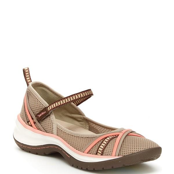 ジャンブー レディース スニーカー シューズ Mystic Water-Friendly Mesh Mary Jane Shoes Taupe/Coral
