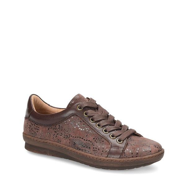 コンフォーティバ レディース スニーカー シューズ Caledonia Paisley Print Leather Sneakers Brown