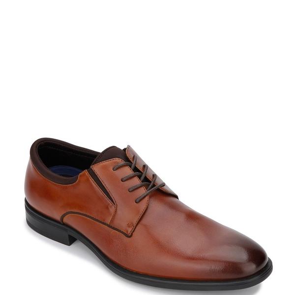 ケネスコール メンズ ドレスシューズ シューズ Men's Edge Flex Lace Up Plain Toe Oxfords Cognac