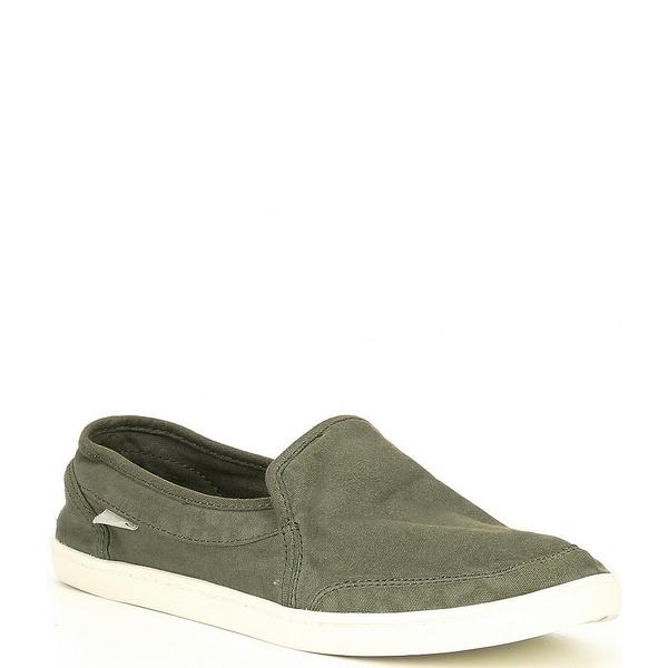 サヌーク レディース スニーカー シューズ Pair O Dice Canvas Slip-On Shoes Military Green