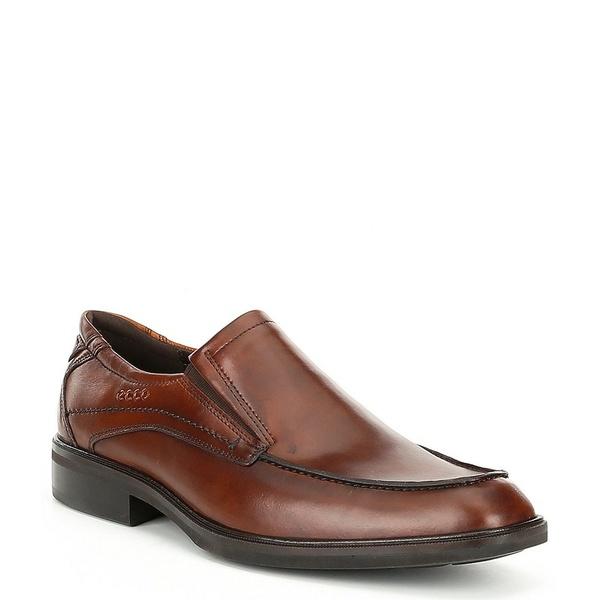 エコー メンズ ドレスシューズ シューズ Men's Windsor Leather Slip-Ons Amber