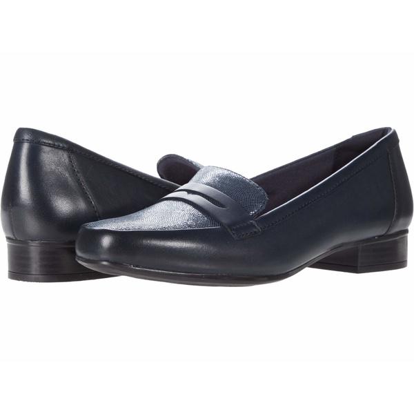 クラークス レディース スリッポン・ローファー シューズ Juliet Coast Navy Leather/Suede Combination