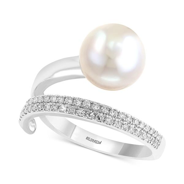大人気新品 エフィー コレクション レディース リング アクセサリー Pearl White Lace by EFFY® Cultured Gold Cultured Freshwater Pearl (10mm) and Diamond (1/8 ct. t.w.) Ring in 14k White Gold White Gold, 化粧品香水雑貨コスメパルフェ:d0e75d50 --- kalpanafoundation.in