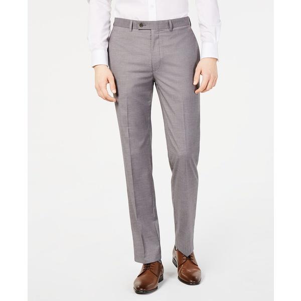 カルバンクライン メンズ ボトムス カジュアルパンツ Light タイムセール Grey 最新アイテム 全商品無料サイズ交換 Men's Dress Gray Mélange Stretch Slim-Fit Performance Wrinkle-Resistant Pants