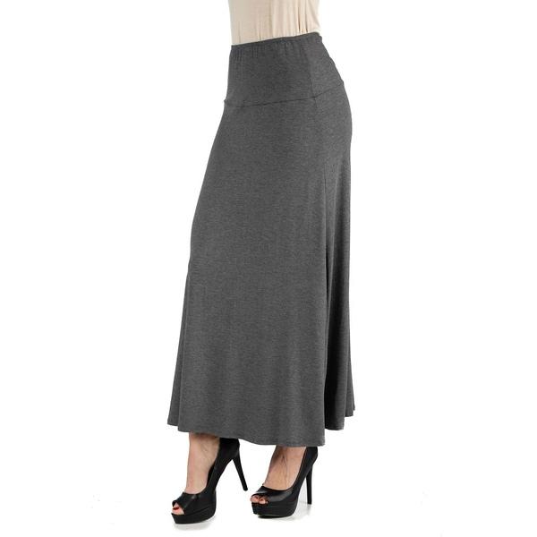 24セブンコンフォート 正規取扱店 レディース ボトムス スカート Smoke 全商品無料サイズ交換 Maxi Women's Waist Elastic Skirt 正規認証品!新規格