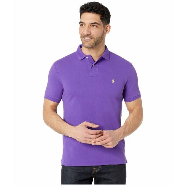 ラルフローレン メンズ シャツ トップス Custom Slim Fit Mesh Polo Cabana Purple