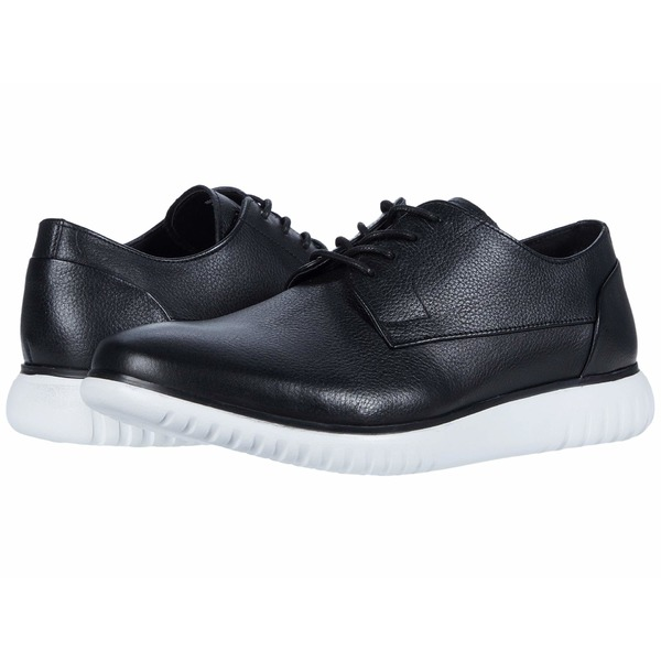カルバンクライン メンズ ドレスシューズ シューズ Teodor Black/White/Soft Tumbled Leather