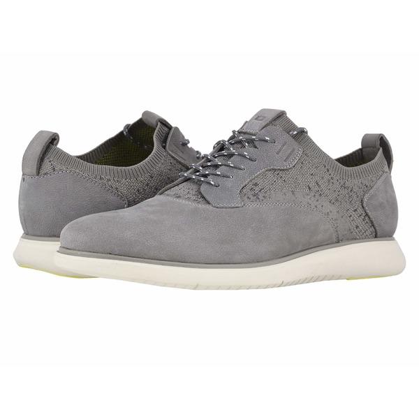 フローシャイム メンズ ドレスシューズ シューズ Fuel Knit Plain Toe Oxford Light Gray Nubuck/White Sole