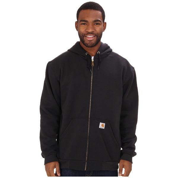 カーハート メンズ パーカー・スウェットシャツ アウター RD Rutland Thermal-Lined Hooded Zip-Front Sweatshirt Black