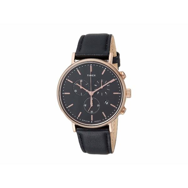 タイメックス メンズ 腕時計 アクセサリー Fairfield Chrono Black