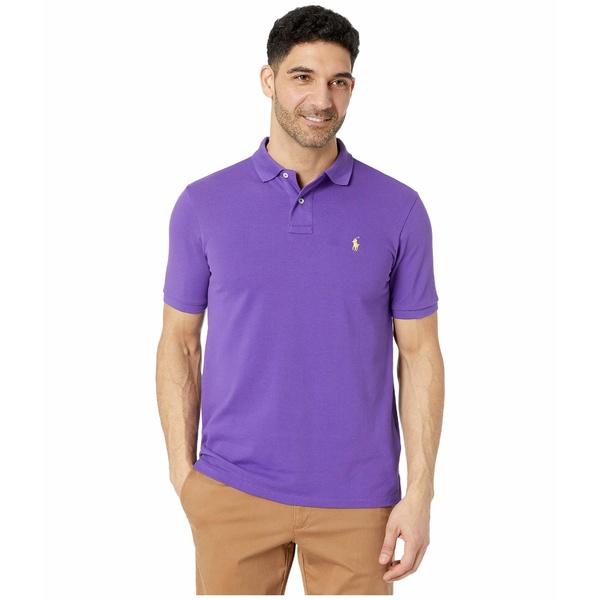 ラルフローレン メンズ シャツ トップス Classic Fit Mesh Polo Cabana Purple 1
