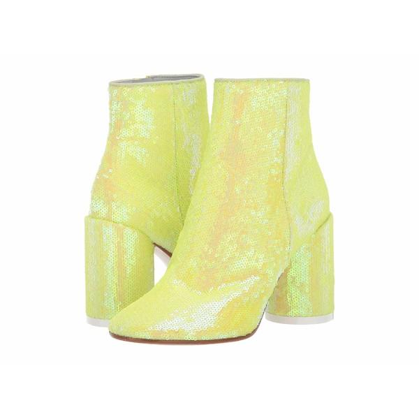 マルタンマルジェラ レディース ブーツ&レインブーツ シューズ Classic Round Heel Sequin Boot Blazing Yellow
