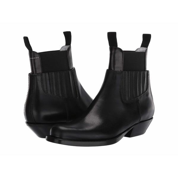 マルタンマルジェラ レディース ブーツ&レインブーツ シューズ Two-Piece Western Chelsea Boot Black