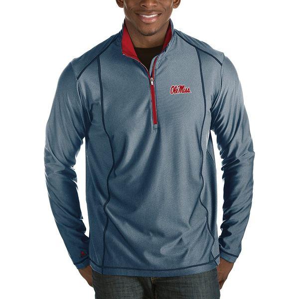 アンティグア メンズ ニット&セーター アウター NCAA Tempo Half-Zip Pullover Ole Miss Navy/Red