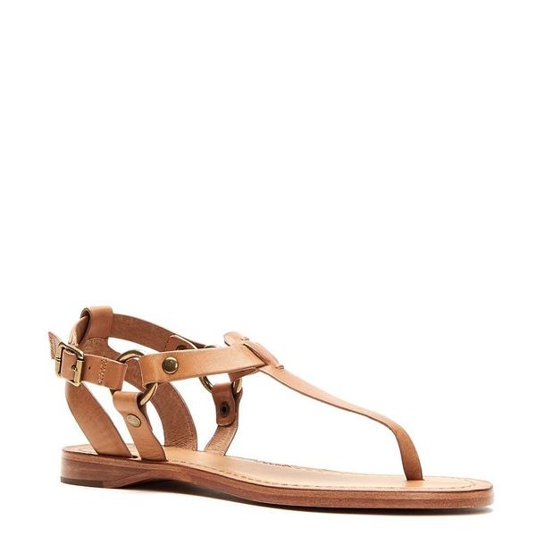 フライ レディース サンダル シューズ Rachel Ring T Strap Leather Sandals Camel