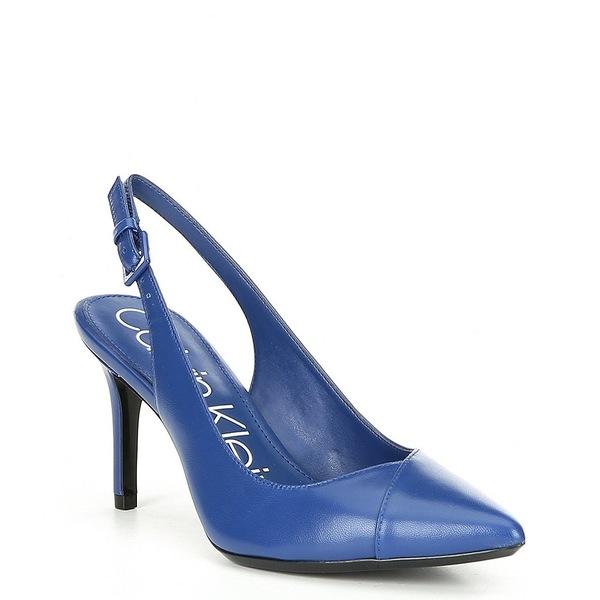 カルバンクライン レディース パンプス シューズ Gwenith Leather Pumps Royal Blue