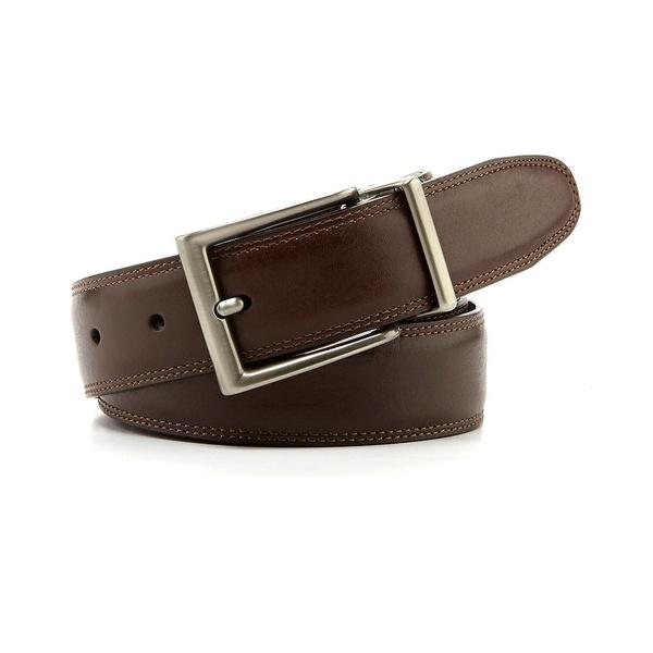 ランドツリーアンドヨーク メンズ ベルト アクセサリー Reversible Resa Leather Belt Brown