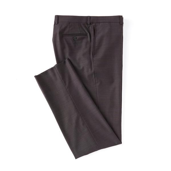 クレミュ メンズ カジュアルパンツ ボトムス Modern Fit Flat Front Solid Dress Pants Wine