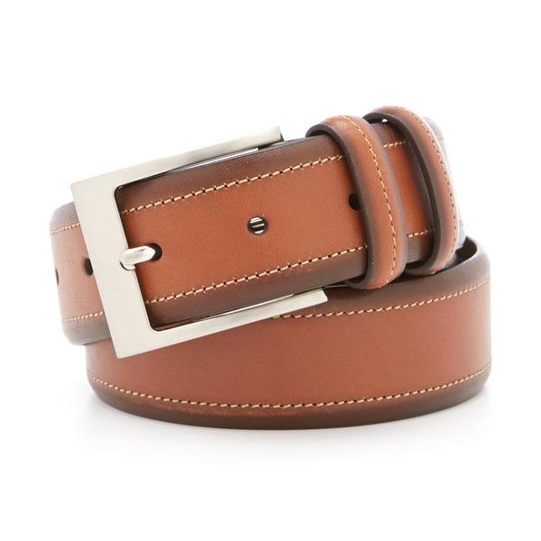 クレミュ メンズ ベルト アクセサリー Burnished Leather Belt Tan