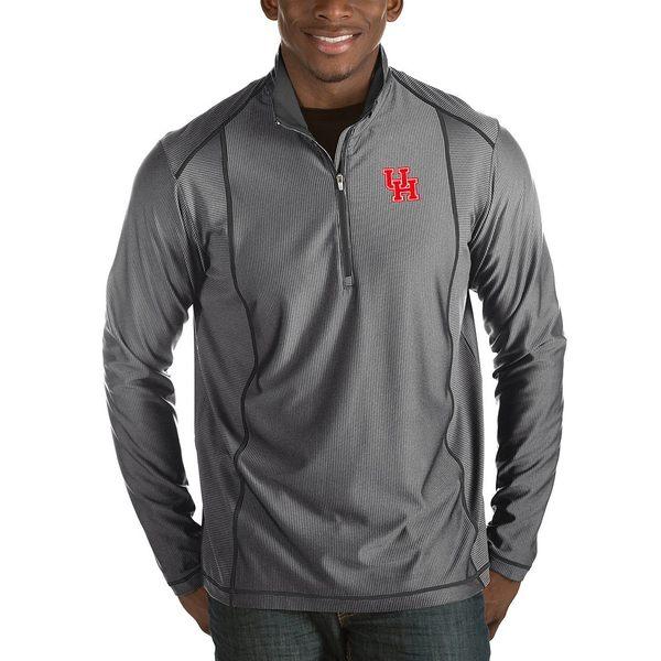 アンティグア メンズ ニット&セーター アウター NCAA Tempo Half-Zip Pullover Houston Cougars Charcoal
