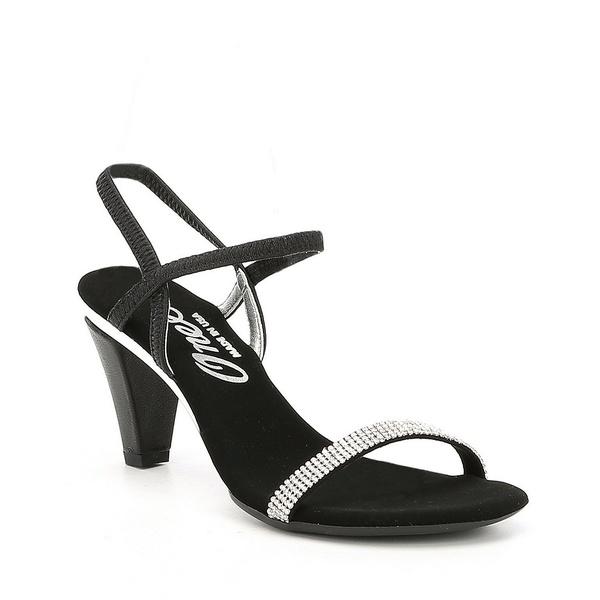 オネックス レディース サンダル シューズ Iced Rhinestone Embellished Leather Dress Sandals Black