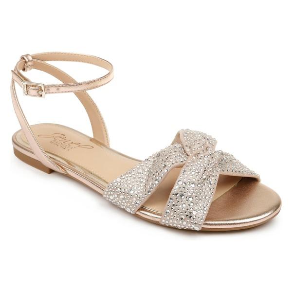 ジュウェルダグレイミシュカ レディース サンダル シューズ Jewel Badgley Mischka Nicole sandal (Women) Rose Gold/ Clear
