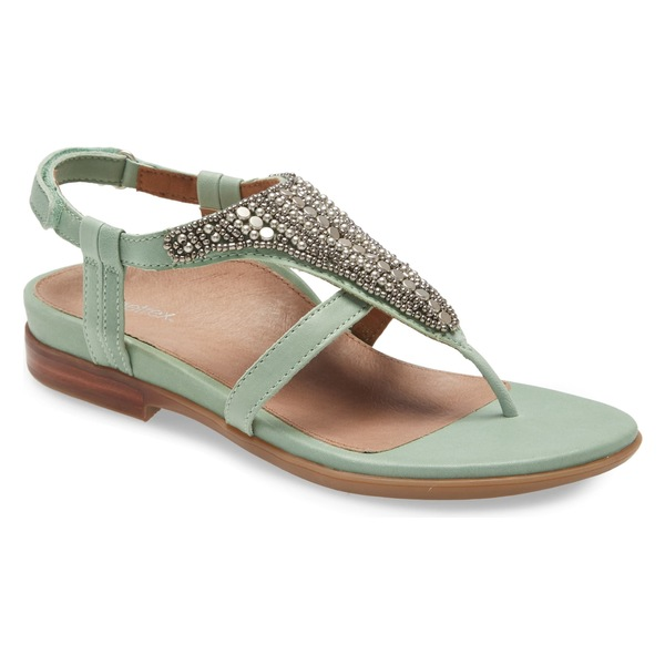 エイトレックス レディース サンダル シューズ Aetrex Sheila Embellished Sandal (Women) Mint Leather