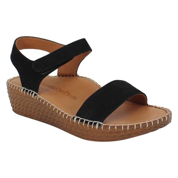 ラモールドピード レディース サンダル シューズ L'Amour des Pieds Yanis Sandal (Women) Black Nubuck Leather