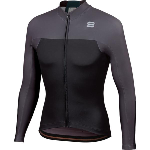 スポーツフル メンズ サイクリング スポーツ Bodyfit Pro Thermal Jersey - Men's Black/Anthracite