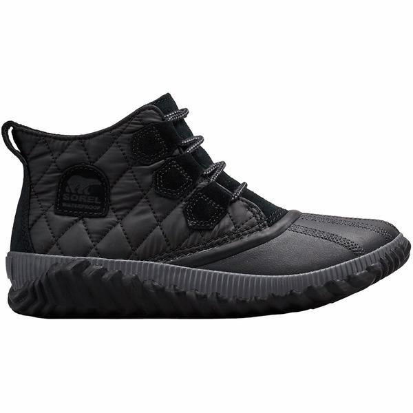 ソレル レディース ブーツ&レインブーツ シューズ Out N About Plus Quilted Boot - Women's Black