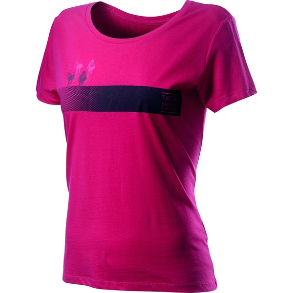 カステリ レディース サイクリング スポーツ Logo T-Shirt - Women's Raspberry