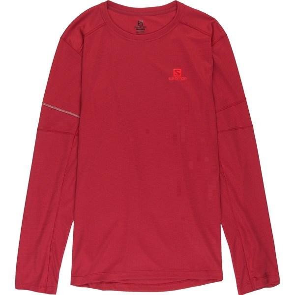 サロモン メンズ シャツ トップス Agile Long-Sleeve T-Shirt - Men's Biking Red
