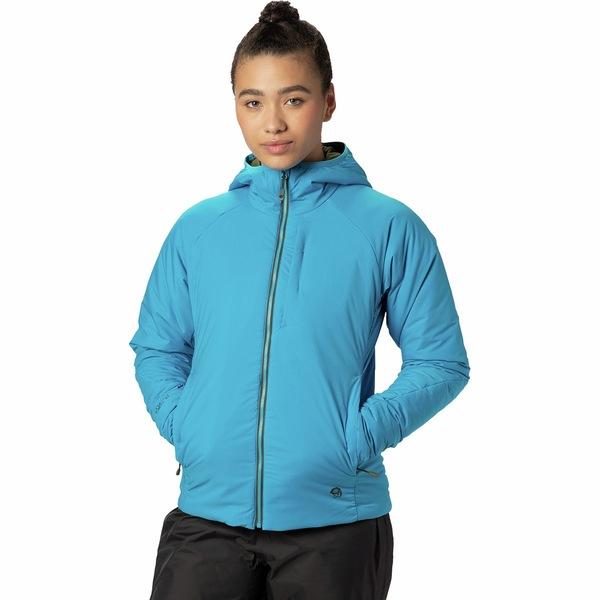 マウンテンハードウェア レディース ジャケット&ブルゾン アウター Kor Strata Hooded Jacket - Women's Electric Sky