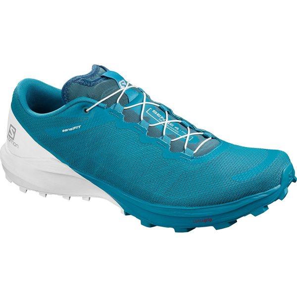 サロモン メンズ スニーカー シューズ Sense Pro 4 Trail Running Shoe - Men's Fjord Blue/White/Icy Morn