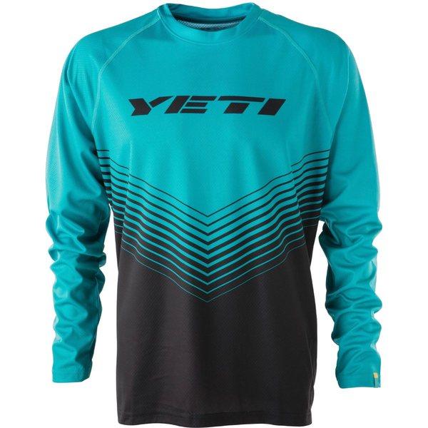 イエティ サイクル メンズ サイクリング スポーツ Alder Long-Sleeve Jersey - Men's Black/Turquoise