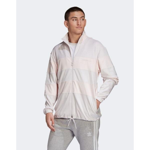 アディダスオリジナルス メンズ ジャケット&ブルゾン アウター adidas Originals velour track jacket in pink Pink