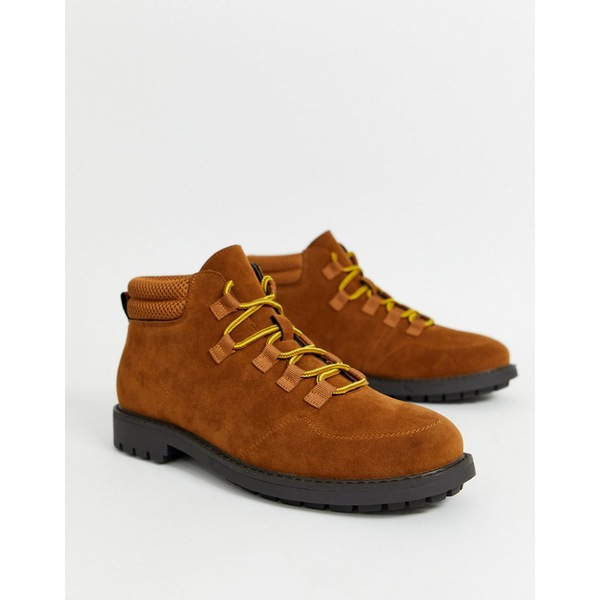 トゥラッフル メンズ ブーツ&レインブーツ シューズ Truffle Collection hiker boot in brown Brown