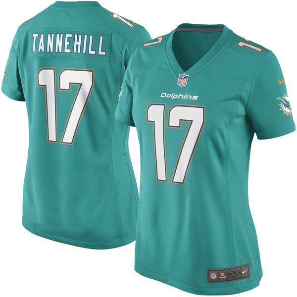ナイキ レディース ユニフォーム トップス Ryan Tannehill Miami Dolphins Nike Women's Game Jersey Aqua